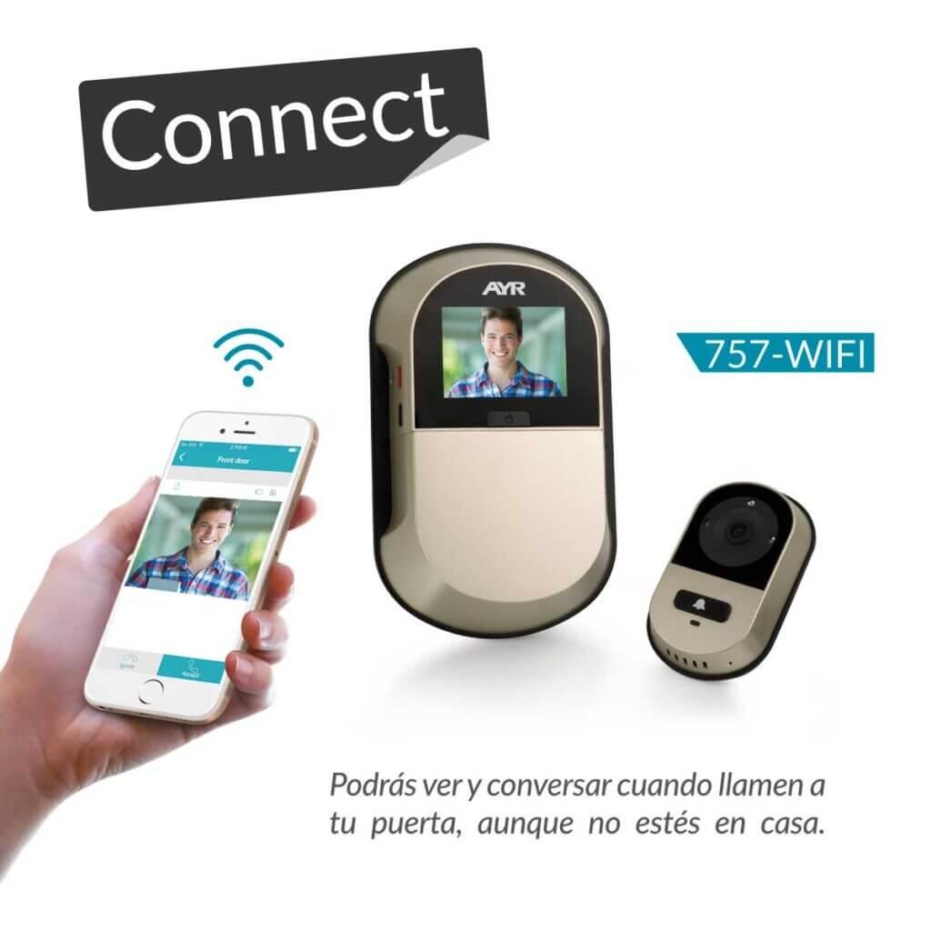 Mirilla wifi 757 y smartphone