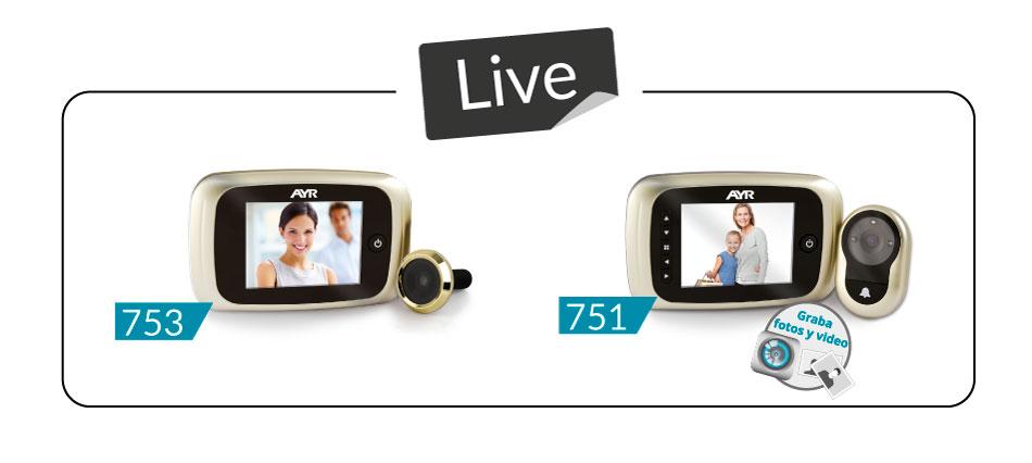 mirillas digitales serie LIVE para tu seguridad